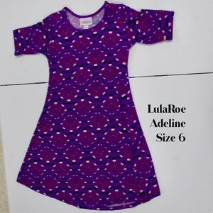 Lularoe Adeline Girls Dress